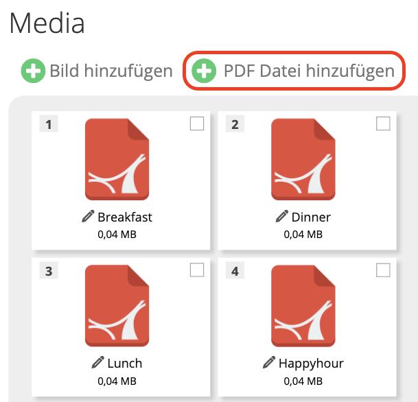 PDF Dateien Upload